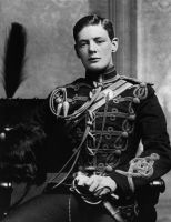 Winston Churchill, age 19 by Step-in-Time-Stock
