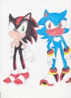 Color Swap : Sonic and Shadow by BlueSpeedsFan92