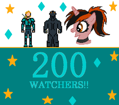 200 Watchers!!! by Gojilion91