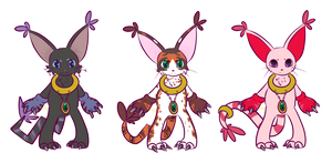 Everybody gets a Gatomon Variation. by HibiWiki