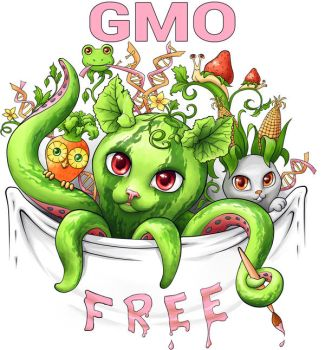 GMO free (genetically modified organisms) by chante-cler