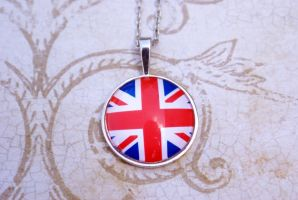 British Flag Necklace by foowahu-etsy