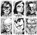 Bayan Knights sketchcards by gammaknight