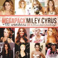 Megapack 100 +Watchers Dia 4 Miley Cyrus. by IllusionNeverChange