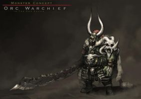 Concept : an orc warchief by reaper78