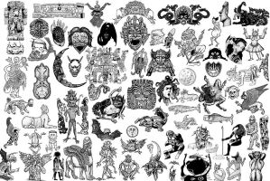 """24x36"""" Monster Tattoo Designs by ColinMartinPWherman"""