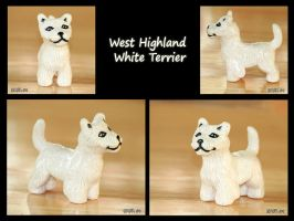 Westie Sculpture by Bafa