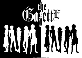 The Gazette - double silhouettes by KaZe-pOn