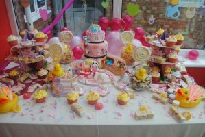 Baby shower cakes by starry-design-studio