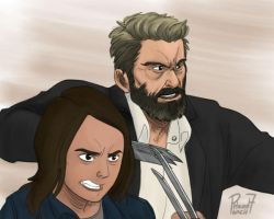 Logan and X-23 by pencilHeadno7