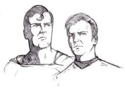 Sketch for JLA/TREK crossover by Ihlecreations
