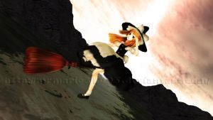 [MMD] Flying at sunset by MrMario31095