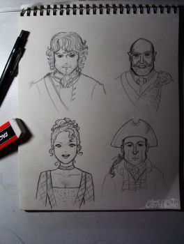 Outlander sketches by Lillymonkey