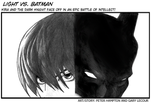 Light vs Batman by cogknack