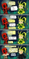 Deadpool and Loki by SylvieZ