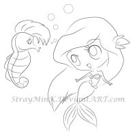 Under the Sea :Line Art: by StrayMinK