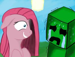 Pinkamena and Creeper by Colombianfury1291