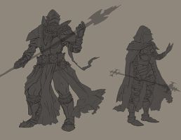 Lineart for Templar characters by Morfyia