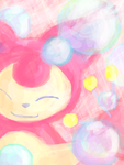 Skitty Bubbles by EnigmaticPenguin