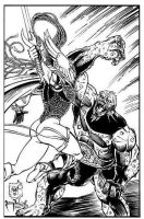Talon pinup inks by PeterPalmiotti