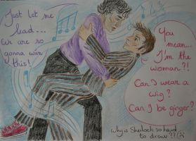 Sherlock and the Doctor winning dance competition by Laprincesseheureuse