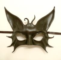 Black Cat Leather Mask by teonova