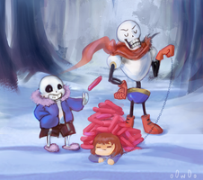 Papyrus' Hat dog-Contest Entry by o0w0o