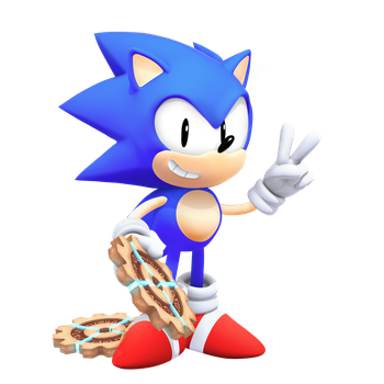 Tyson Hesse Style Classic Sonic no comic alt by Nibroc-Rock