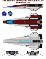 Atlantis Assault Shuttle Craft 70 Hermes by bagera3005
