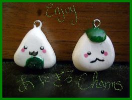 The Two Onigiri Charms by Demi-Plum