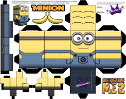 Despicable Me Minion with Two eyes template by SKGaleana