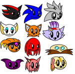 Sonic MM style heads by ARTic-Weather