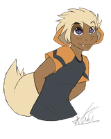 Growlithe Gijinka by Kiwi-Heart