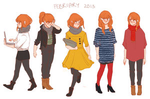 What I Wore - February 2013 by batcii