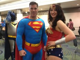Megacon 2013: Superman and Wonder Woman by ChriSpaiNess