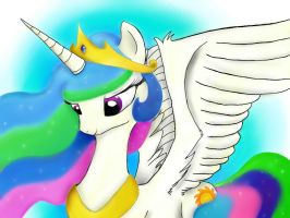 Princess Celestia by mindcontrol4dummies