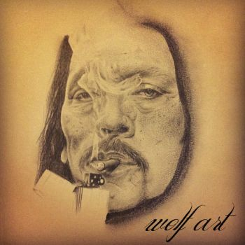 Danny Trejo portrait by Wolf666art
