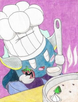 Meta Knight cooking by Carurisa