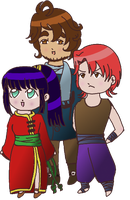 TriplePact Chibis by Mistery-forever