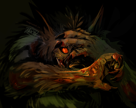 Scary Dog 8 by weremagnus