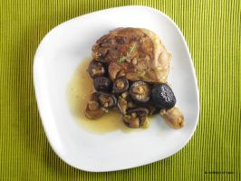 Duck legs with mushrooms and raspberry vinegar by kivrin82