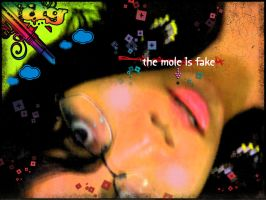 the mole is fake by meams