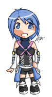 chibi - KH - aqua by percylove