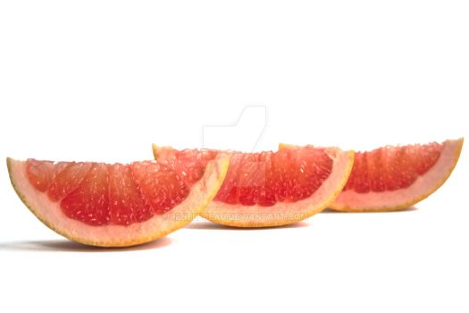 Grapefruits on a White Background by ReneLeBeau