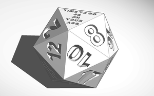 D20 Time To Go 5 On Your Ass by charizardag