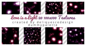 Love is a Light: 20 Icon Textures by deliquescedesign
