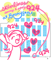 Bronycon booth 924 by skimlines