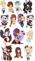 GAIA CHIBI DUMP by Love-The-Nekos