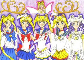 Stages of Sailor moon colour by Sailor-Aurora