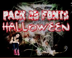 Pack | Halloween Fonts by ChocolateAndWeed